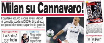 """Milan de """"Aur"""": il vrea pe galacticul Fabio Cannavaro!"""