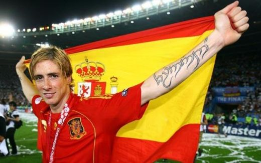 fernando torres tattoo leg. Fernando Torres 4. Diego Maradona