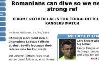 "Rangers ataca Unirea: ""Romanii sunt niste trisori"""