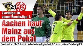 SENZATIE! Liderul Germaniei, UMILIT in Cupa! Vezi cum a fost eliminata Mainz de o echipa din Liga a II-a! VIDEO