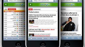 www.sport.ro, RECORD all-time de vizite pe mobil in februarie