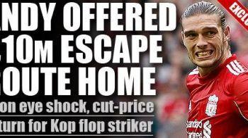 INCREDIBIL! Cea mai mare TEAPA din istoria lui Liverpool? Carroll s-ar putea intoarce intoarce la Newcastle! Cat pierde Liverpool in doar 12 luni: