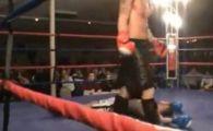 Cel mai PENAL luptator de kickboxing s-a facut singur KO! Adversarul nici nu a apucat sa-l loveasca :)) VIDEO NEBUN
