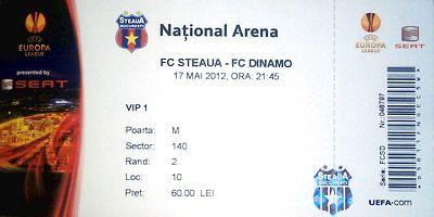 Observi greseala de pe bilet? GAFA ISTORICA a stelistilor inainte de marele derby! Ce vei primi in mana la meciul cu Dinamo :))