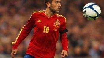 """Barcelona foloseste din nou tactica """"Fabregas""""! Vor sa-l ia pe Alba de la Valencia direct din cantonamentul nationalei! Se REPETA povestea lui Cesc?"""
