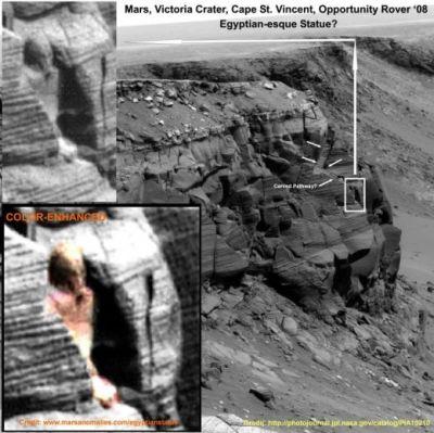 """Imagine IN-CRE-DI-BI-LA! Robotul Opportunity a pozat o statuie egipteana pe Marte: """"Aici au fost oceane uriase"""" VIDEO"""