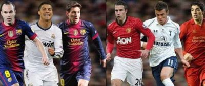 Propunerea SECOLULUI! Messi si Ronaldo, colegi de echipa vs cei mai tari jucatori din Premier League! Cine are castiga meciul asta?