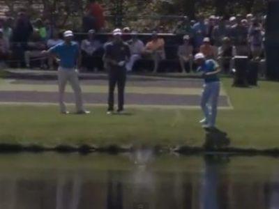MASTER SKILL! Lovitura din golf care iti aduce aminte de COPILARIE: Mingea a facut 'broscute' VIDEO