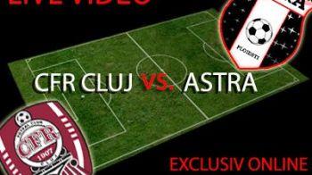 CFR Cluj 0-0 Astra! Finalista se decide la retur! Astra a jucat 60 de minute cu un om in plus dupa o intrare CRIMINALA a lui Muresan: Takayuki si-a spart capul! VIDEO