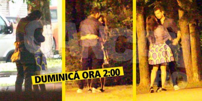 Seful sportului romanesc, filmat la 2.00 noaptea in timp ce se harjonea cu amanta in parc! Cine e bruneta!