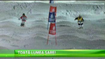 Cel mai tare concurs cu skiuri al momentului in lume. Ce au fost in stare concurentii sa faca. VIDEO