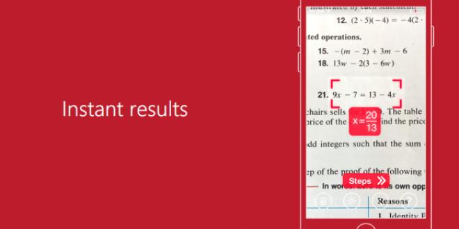 Aplicatia care rezolva exercitii la matematica! Trebuie doar sa pornesti camera telefonului
