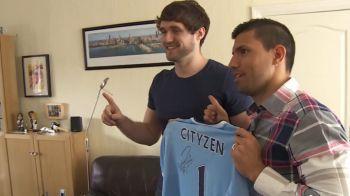 """""""Salut, eu sunt Aguero! Vrei sa lucrezi la Manchester City?"""" Surpriza imensa pentru un fan! Cum a reactionat cand a aflat vestea"""