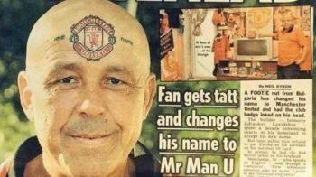 """""""Faceti cunostinta cu domnul United"""" Lupta fantastica de 15 ani a acestui fan bulgar ca sa-si schimbe numele in Manchester United"""