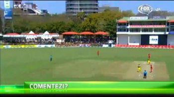 E periculos sa comentezi cricket! Risti sa pleci la spital de la meci! VIDEO