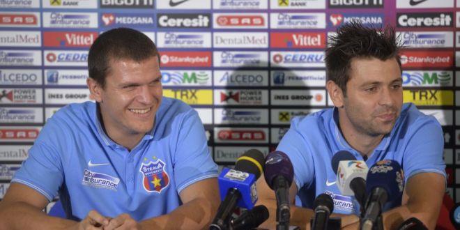 Bourceanu, catre Rusescu:  Pot sa o zic pe aia?  Stelistii s-au tinut de glume la conferinta! Cum se califica Steaua in Liga