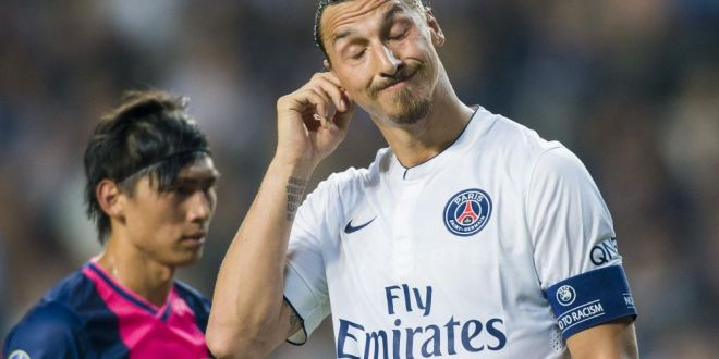 Intalnirea cu Zlatan i-a lasat urme vizibile! Capitanul lui Rennes s-a ales cu un ochi  fardat  dupa meciul cu PSG :) FOTO