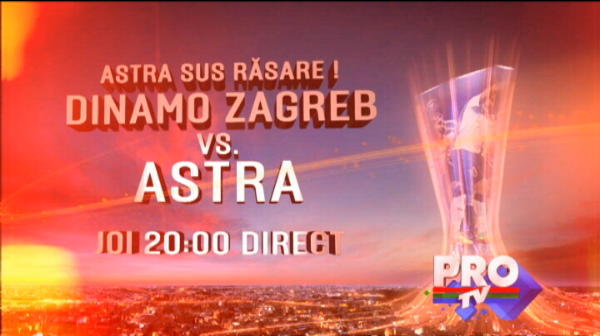 Astra vrea sa razbune infrangerea de la Cluj cu o victorie la Zagreb, joi, LIVE la ProTV! Ce au facut croatii in aceasta etapa