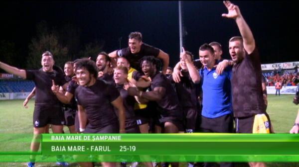 Baia MARE de sampanie! Baia Mare e din nou campioana Romaniei la rugby. VIDEO
