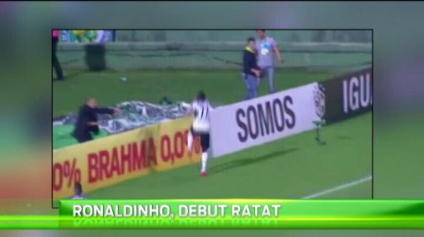 Ratare URIASA! Ronaldinho a sutat pana in BRAZILIA din penalty. VIDEO