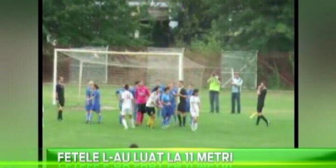 Aceste scene fac inconjurul lumii!Un portar de la fotbal feminin a vrut sa-l ia pe arbitru la bataie! De ce s-a dezbracat pe teren