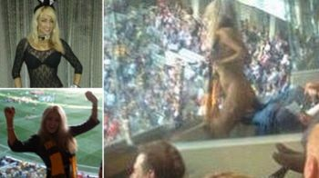 """Am pariat ca ma dezbrac daca vor castiga. Au castigat!"" Politia a ARESTAT-O imediat! Imagini INCREDIBILE pe stadion"