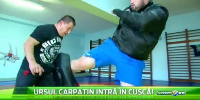Un roman s-a antrenat cu Saki si Overeem!  Ursul Carpatin  se bate in cusca in direct la Sport.ro, luni de la 21:00