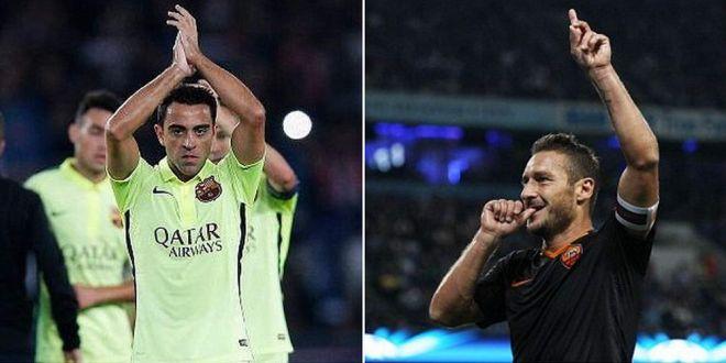 Ultimii LORZI din fotbal! Recorduri COLOSALE stabilite de Xavi si Totti in Champions League!