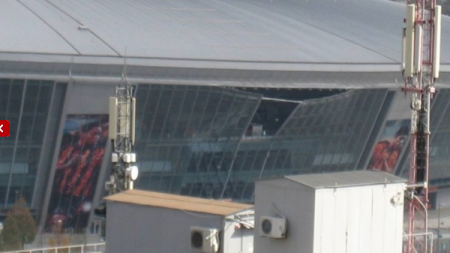 FOTO Stadionul lui Sahtior a fost BOMBARDAT din nou! Arena de 200 de milioane a lui Ahmetov devine o RUINA!