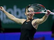 EXPLOZIE de bucurie pentru Simona dupa ce a batut-o pe Serena! Ce a scris cu degetul pe camera la finalul meciului