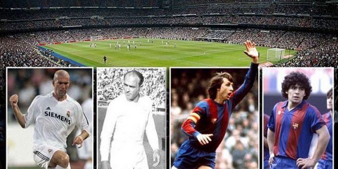 Cristiano Ronaldo, Messi, Zidane, Maradona, Cruyff, Di Stefano, Ronaldinho, Raul. Asa ar arata un El Clasico de VIS! Cine ar castiga?