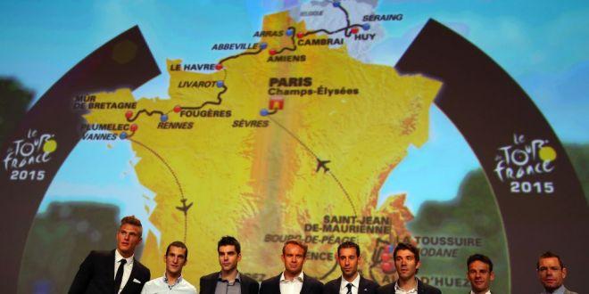 Turul Frantei 2015 se decide din nou pe Alpe d Huez! Le Tour, sase finisuri la altitudine, un singur contratimp! Unde va incepe