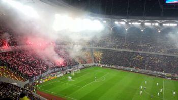 Moment unic la un Steaua - Dinamo! Doi fani ai oaspetilor s-au infiltrat in peluza Stelei si au afisat un banner! Ce scria pe el