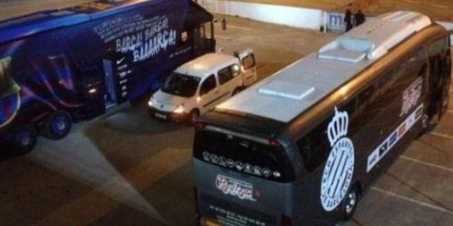 GAFA incredibila inainte de Barca - Espanyol. Ce scria pe autocarul celor de la Espanyol. Imaginea a devenit imediat virala. FOTO