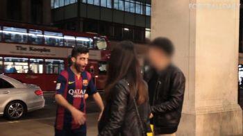 Cea mai tare FARSA inainte de Halloween :) Un fan de-al Barcei s-a imbracat intr-un ZOMBIE Suarez si a speriat oameni. VIDEO