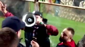 """""""Ploua, racim si nu va parasim!"""" Unul dintre cei mai scumpi fotbalisti romani a fost in galerie la meciul cu CFR Cluj VIDEO"""