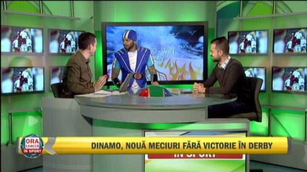 "VIDEO: Au intrat ""mascatii"" in platoul Sport.ro :) Sportacus Kirita, stelistul Duban si morosanul Hulk au inceput deja derby-ul!"