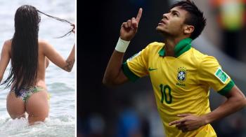 Pozele pe care Neymar n-ar fi vrut sa le vada pe net! Noua iubita a starului de pe Camp Nou a fost surprinsa topless: FOTO