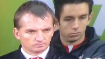 O imagine perfecta a jocului lui Liverpool! Ce face portarul de rezerva in spatele lui Rodgers! Fanii ii cer demisia antrenorului