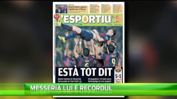 """91 de goluri intr-un an, 73 intr-un sezon, 4 Baloane de Aur, acum si RECORDMAN al Spaniei! Messi a """"terminat"""" jocul"""