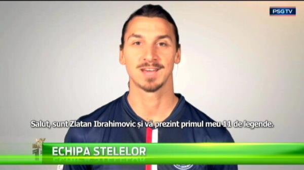 "Just Zlatan :) Ibrahimovic s-a inclus singur in cea mai buna echipa din istorie si s-a autointitulat ""Dumnezeu"""