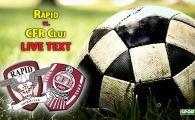 Bornescu salveaza Rapidul in prelungiri! CFR, dominata in Giulesti! Cele mai importante faze din Rapid 0-0 CFR Cluj