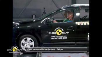 VIDEO Scor slab pentru Dacia Logan MCV la testele Euro NCAP. Cate stele a primit: