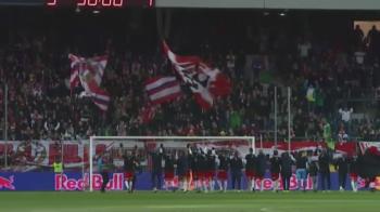 """Jucatorii Astrei au asistat la un moment UNIC la Salzburg! Austriecii au facut """"dans sincron"""" cu fanii, intr-o atmosfera superba"""