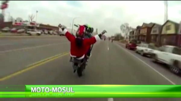 Asa arata Mos Craciun in 2014! Cu ce au fost inlocuiti renii Mosului :)