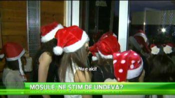 VIDEO Mos Craciun Belu le-a adus cadouri micutelor de la gimnastica in cantonament. Cum au reactionat fetele cand l-au vazut