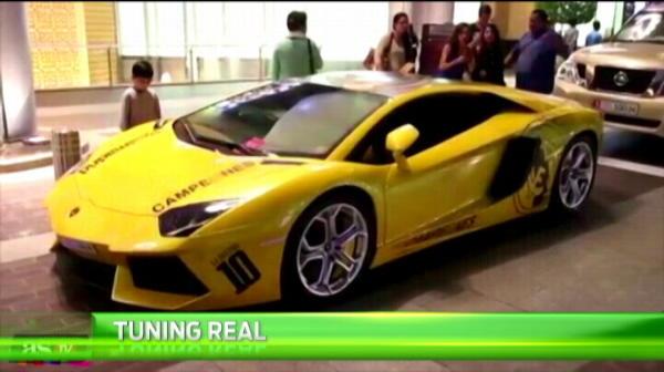 Aparitie INCREDIBILA a acestui Lamborghini de 300 000 de euro! Ce i-a facut un fan Real Madrid