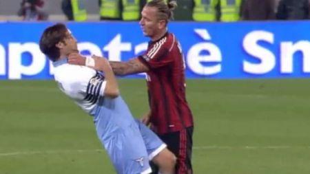 Scene INCREDIBILE in Serie A! Mexes si-a strans de gat un adversar! Colegii de la Milan au innebunit dupa faza asta! VIDEO