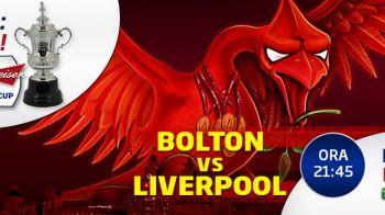 Miercuri, LIVE la Sport.ro: Bolton - Liverpool in FA Cup. Bucurati-va de fotbal!