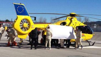 """FOTO Accident GRAV pentru Alonso la Barcelona! A fost transportat cu elicopterul la spital: """"E constient, dar are ceva probleme"""""""